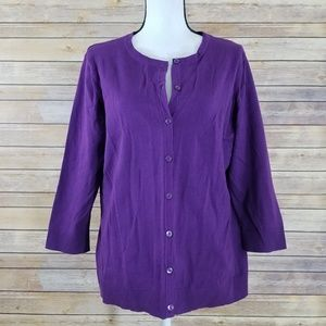 NWT Christopher & Banks XL Purple Cardigan Sweater